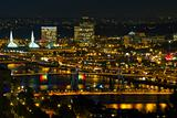Bridges of Portland at Night