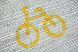 bicycle sign on the path