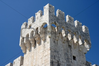 Ancient Castle in Trogir - architectural details