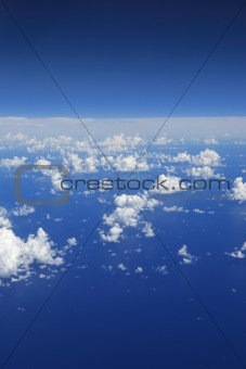 clouds view from top