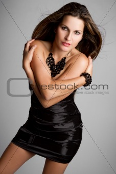 Black Dress Woman