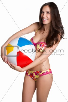 Beach Ball Bikini Woman
