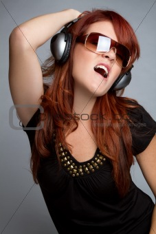 Headphones Woman