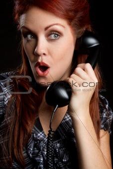Vintage Telephone Woman