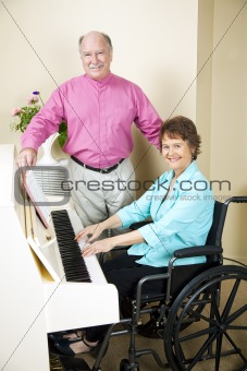Church Pianist in Wheelchair