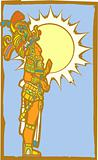 Mayan Lord with Sun