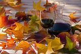wine & leaves