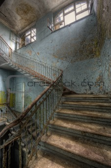 old hospital stairs