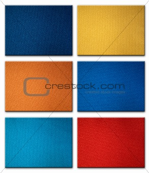 six fabric sample
