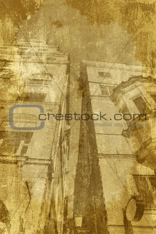 Background Grungy buildings