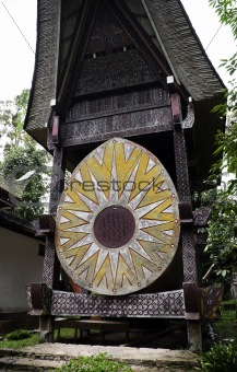 Traditional Toraja family tomb