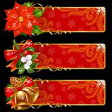 Christmas and New Year horizontal banners 10