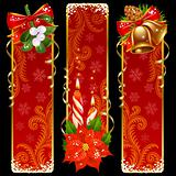Christmas and New Year vertical banners 11