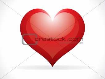 abstract glossy heart icon