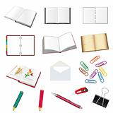 Collection of stationery for the office