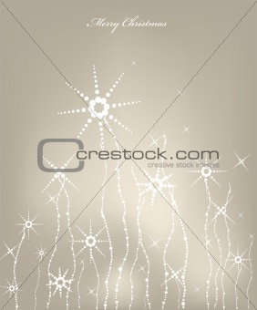 Christmas card with snowflakes. Vector