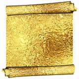 Roll of golden foil
