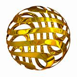 Abstract swirl sphere