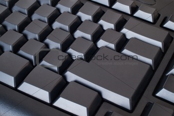 Blank black keyboard