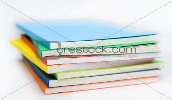 stack of the coloured books