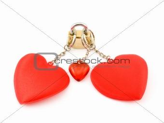 Three hearts on the lock.