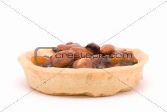 one cake nut mix isolated