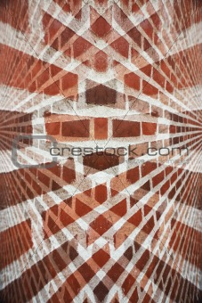 Abstract red brick wall