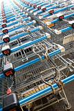 Trolleys at a supermarket