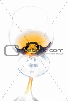 A glass of cognac