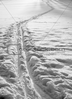 Cross country ski track