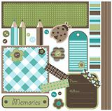 Scrapbook elements, vector