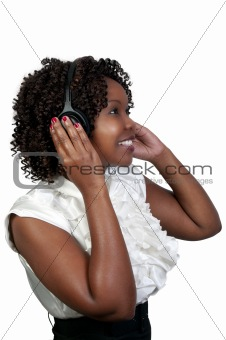Black Woman with Headphones