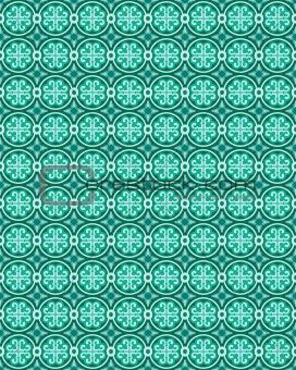 Green Arabesque Vector Background