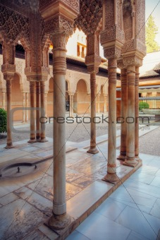 Alhambra patio, Granada, Spain