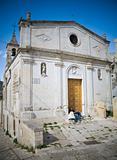 Madonna della Virtù Nuova Chuch. Sassi of Matera. Basilicata.