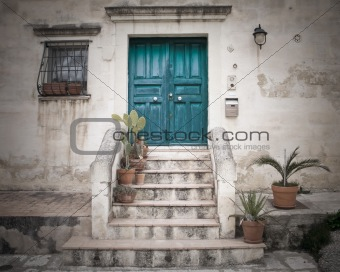 Characteristic House. Sassi of Matera. Basilicata.