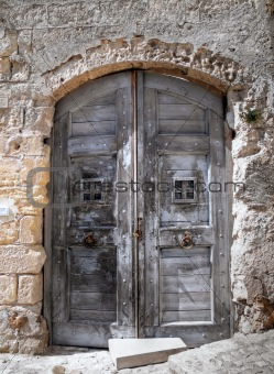 Wooden Ancient Frontdoor.