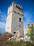 Ancient abandoned Tower. Giovinazzo. Apulia.