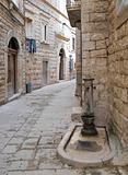 Alley in Oldtown of Molfetta. Apulia.