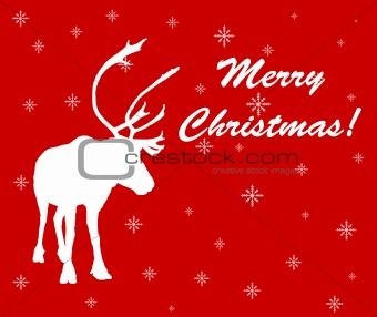 Caribou reindeer Christmas card