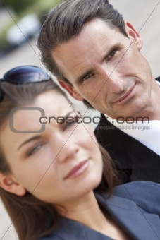 Portrait of Handsome Middle Aged Man and Woman Couple