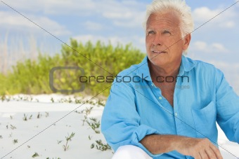 Outdoor Portrait of An Attractive Handsome Senior Man