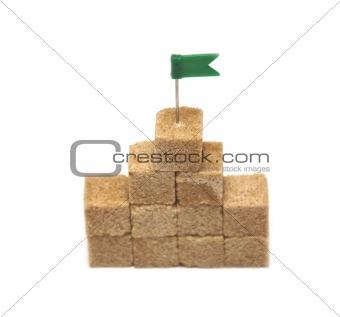 cubes of crude sugar