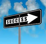 Success Way Sign