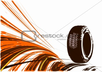 Vector background of auto design