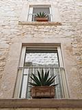 Typical windows of Molfetta Oldtown. Apulia.