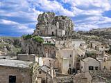 The rock-church of Madonna de Idris. Sassi of Matera.