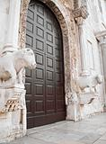 Main Entrance to the St. Nicholas Basilica. Bari. Apulia. 