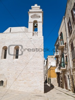 Alley in Oldtown of Trani. Apulia.