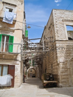 Alley in Oldtown of Molfetta. Apulia.